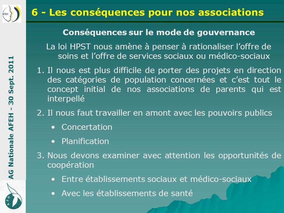 Conséquences sur le mode de gouvernance