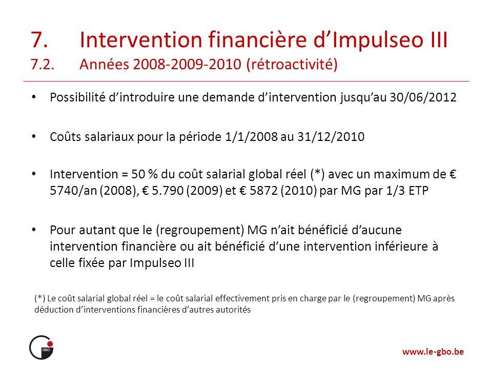 7. Intervention financière d'Impulseo III 7. 2