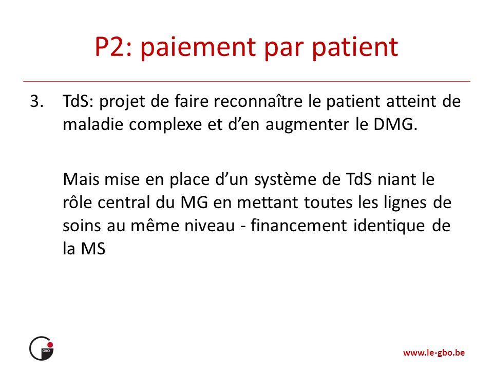 P2: paiement par patient