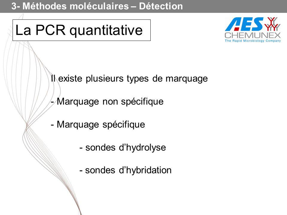 La PCR quantitative 3- Méthodes moléculaires – Détection