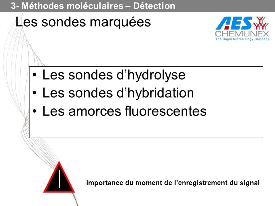 Les sondes d'hydrolyse Les sondes d'hybridation