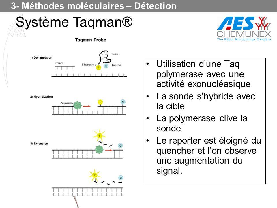 Système Taqman® 3- Méthodes moléculaires – Détection