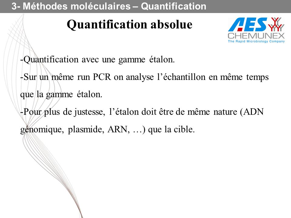 Quantification absolue