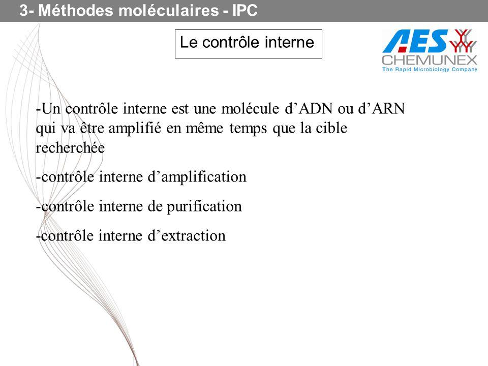 3- Méthodes moléculaires - IPC