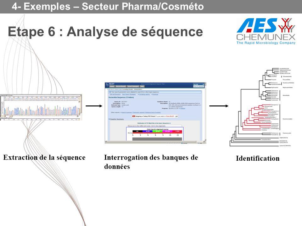 Etape 6 : Analyse de séquence