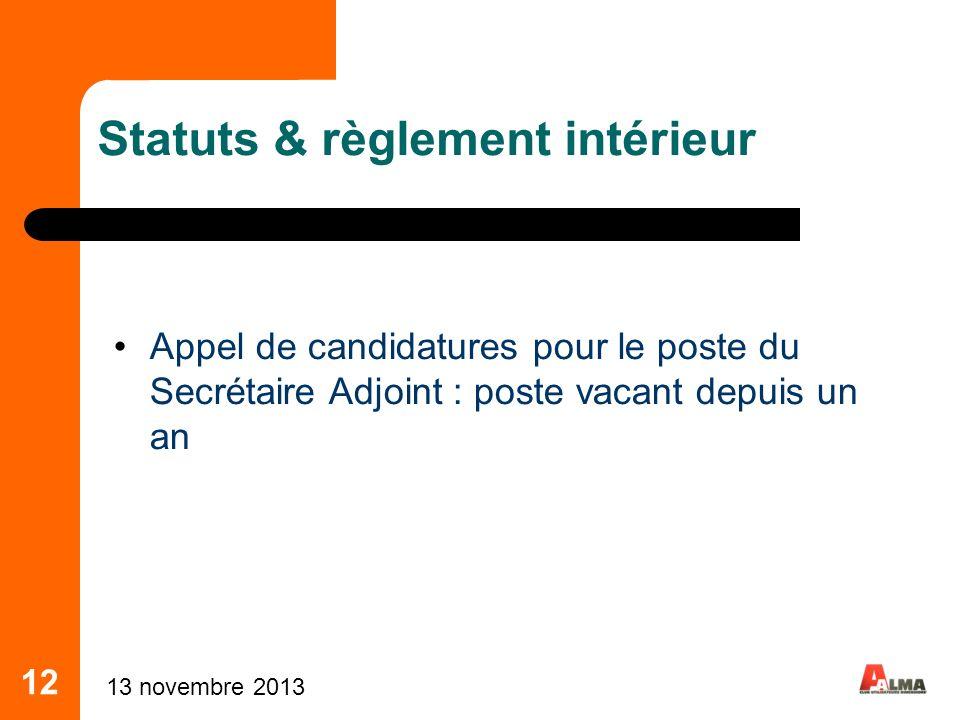 Statuts & règlement intérieur
