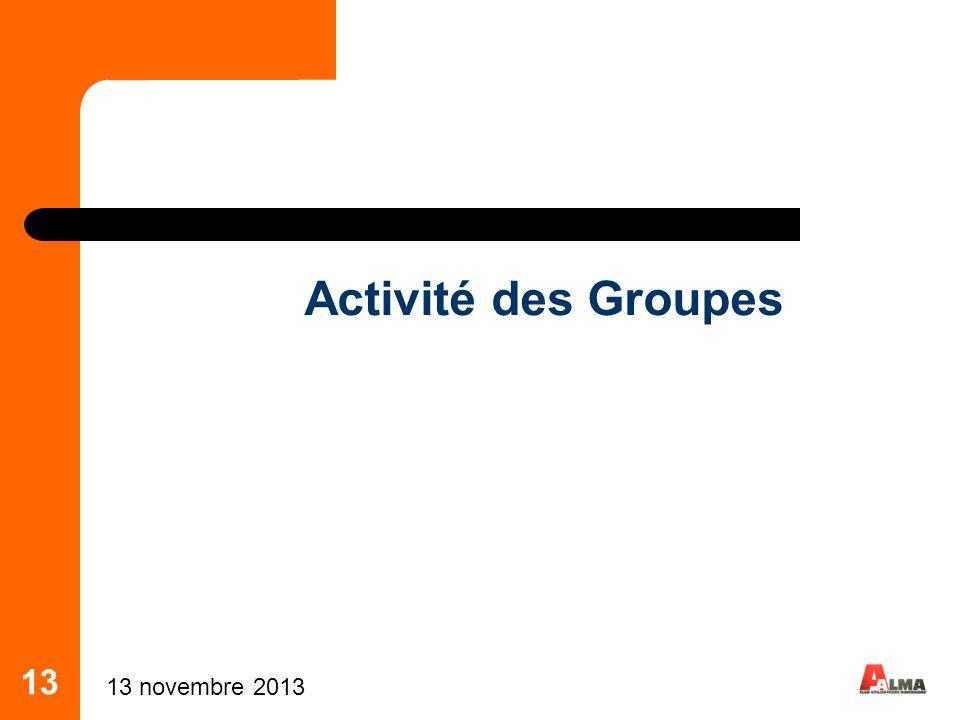 Activité des Groupes 13 25 mars 2017 13