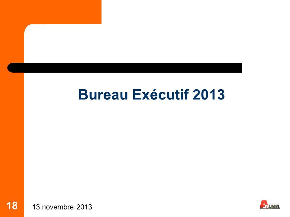 Bureau Exécutif 2013 18 25 mars 2017 18