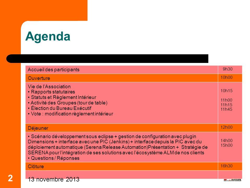 Agenda 2 25 mars 2017 Accueil des participants Ouverture