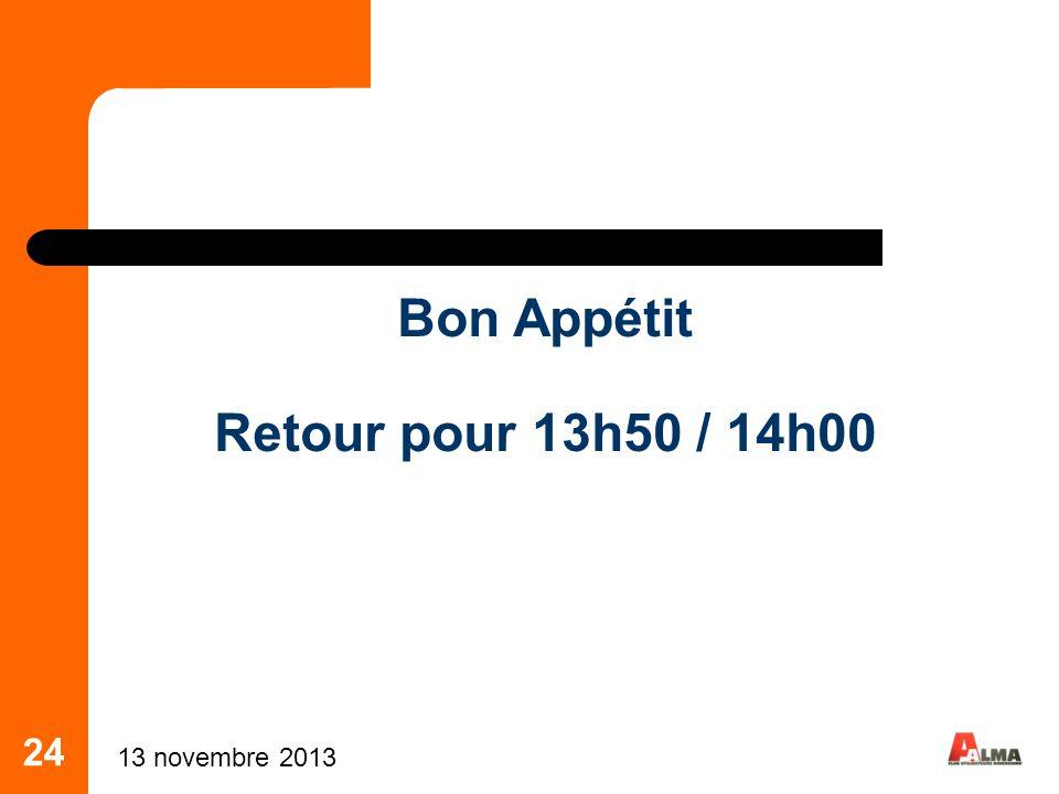 Bon Appétit Retour pour 13h50 / 14h00