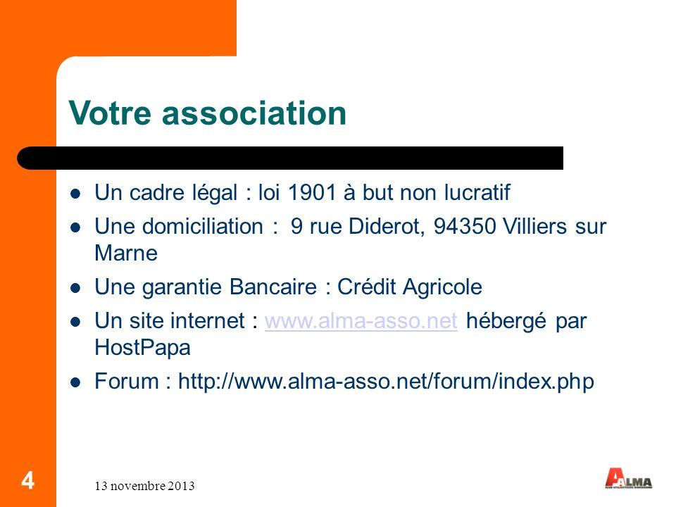 Votre association 4 Un cadre légal : loi 1901 à but non lucratif