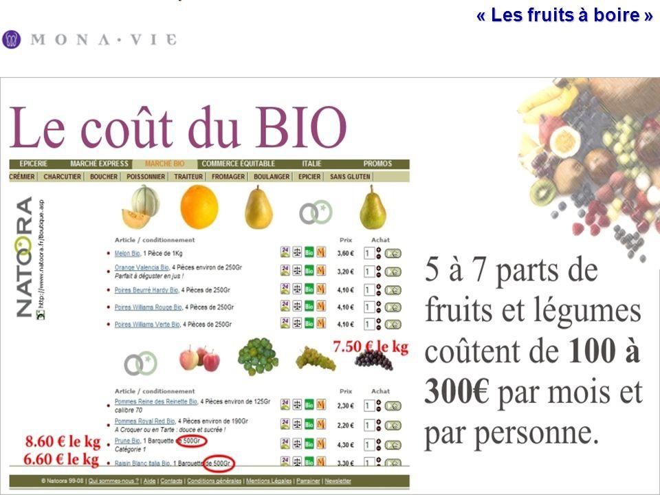 « Les fruits à boire »