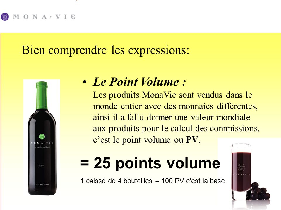 = 25 points volume Bien comprendre les expressions: