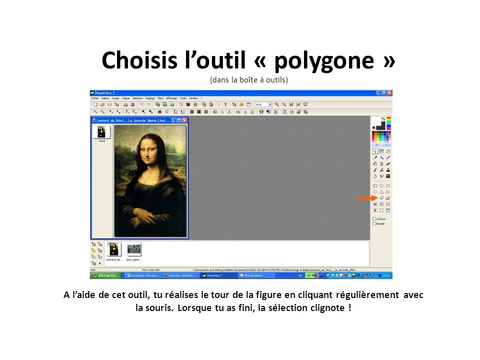 Choisis l'outil « polygone » (dans la boîte à outils)
