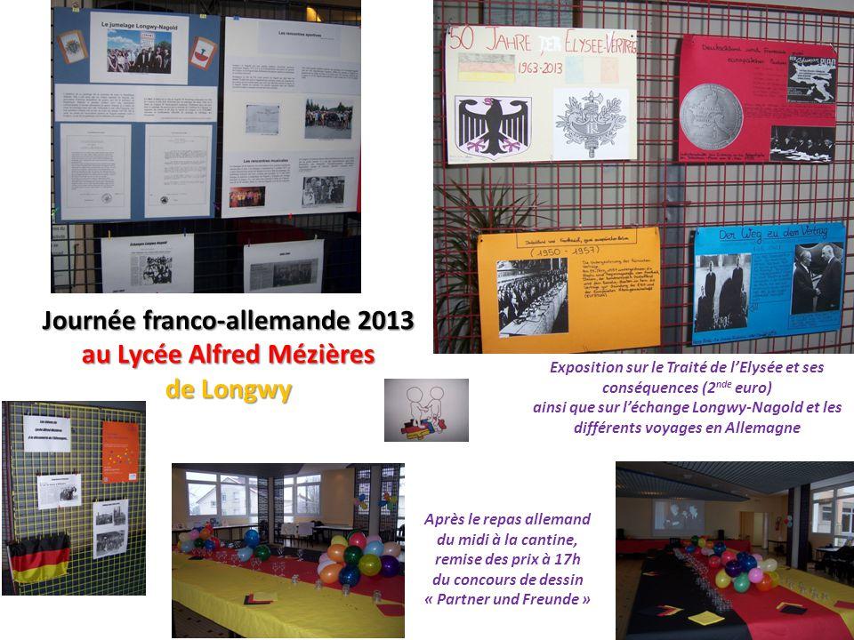 Journée franco-allemande 2013 au Lycée Alfred Mézières de Longwy