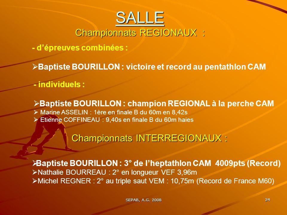 SALLE Championnats REGIONAUX :
