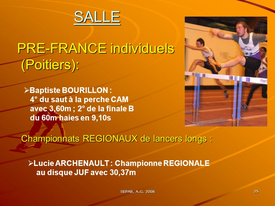 SALLE PRE-FRANCE individuels (Poitiers):
