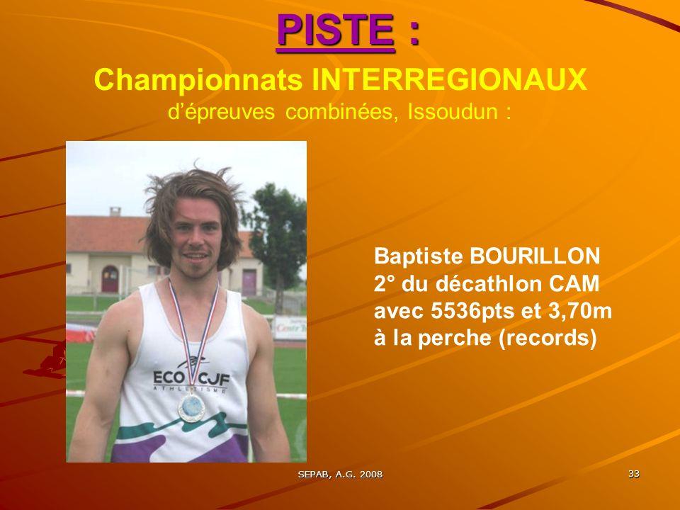 Championnats INTERREGIONAUX d'épreuves combinées, Issoudun :