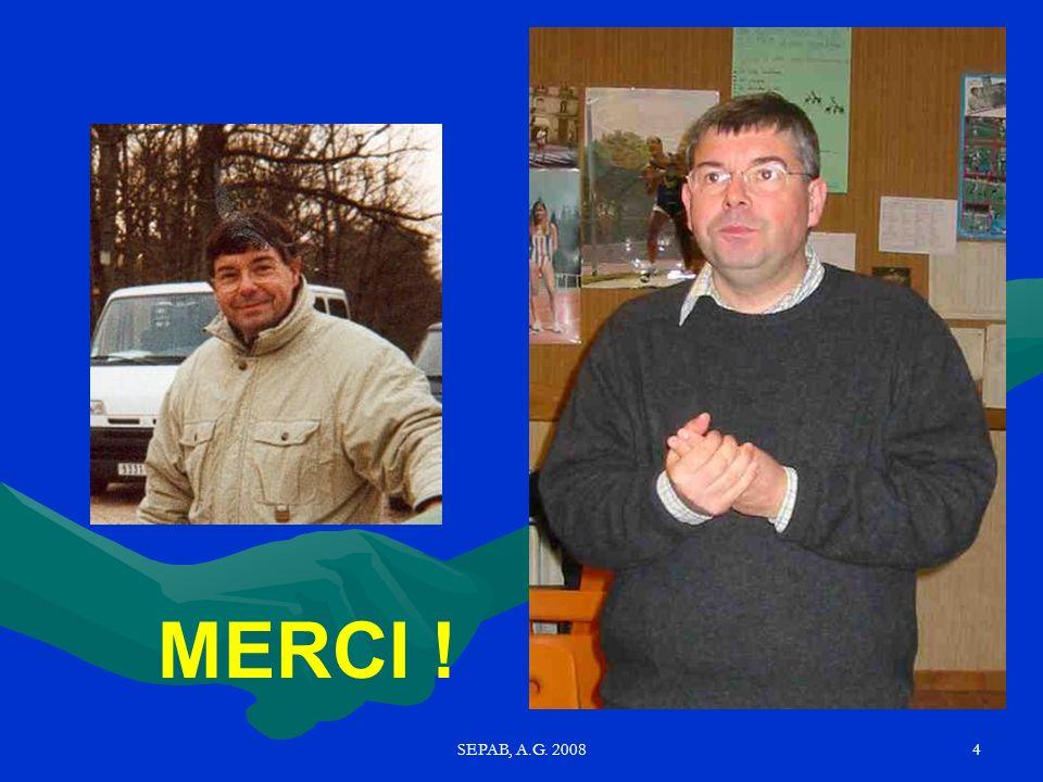 MERCI ! SEPAB, A.G. 2008
