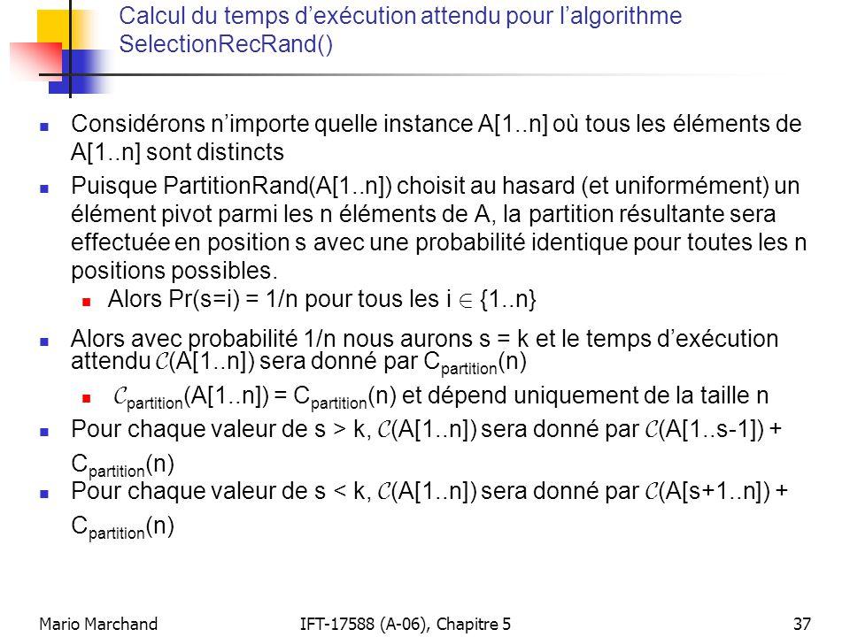 Alors Pr(s=i) = 1/n pour tous les i 2 {1..n}