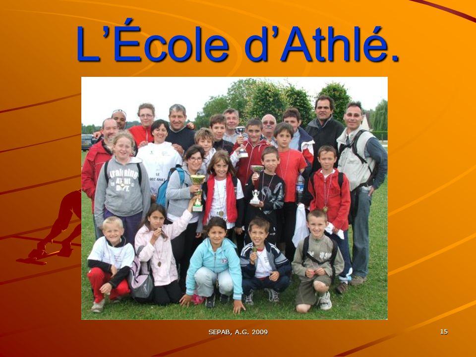 L'École d'Athlé. SEPAB, A.G. 2009
