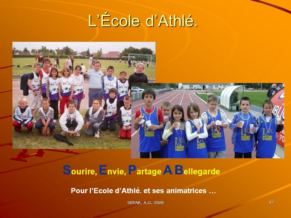 L'École d'Athlé. Sourire, Envie, Partage A Bellegarde