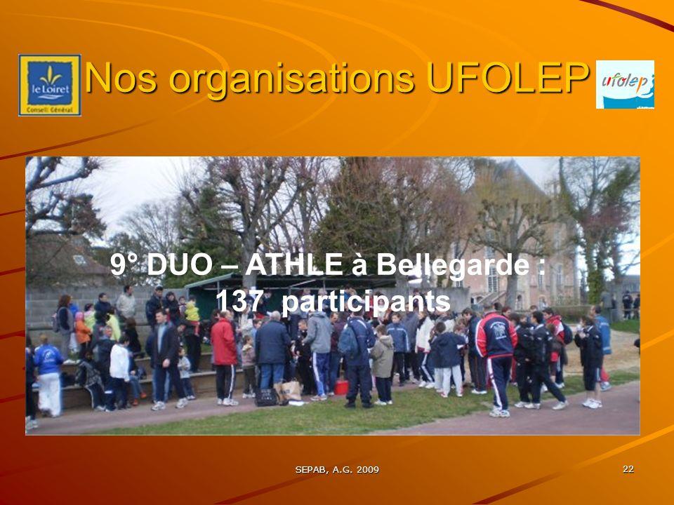 Nos organisations UFOLEP