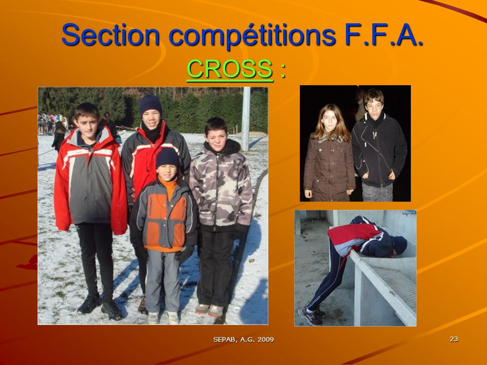 Section compétitions F.F.A.