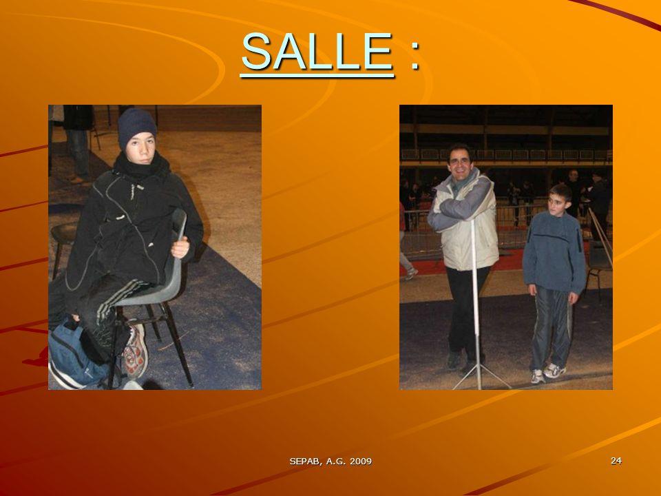 SALLE : SEPAB, A.G. 2009