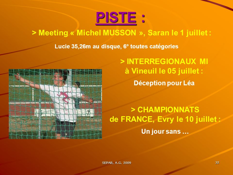 PISTE : > Meeting « Michel MUSSON », Saran le 1 juillet :