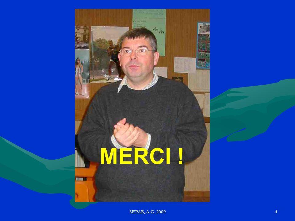 MERCI ! SEPAB, A.G. 2009