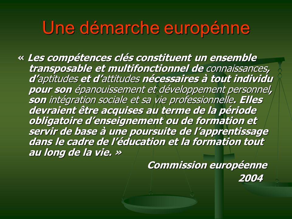 Une démarche europénne