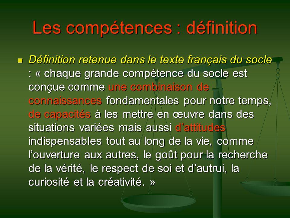 Les compétences : définition