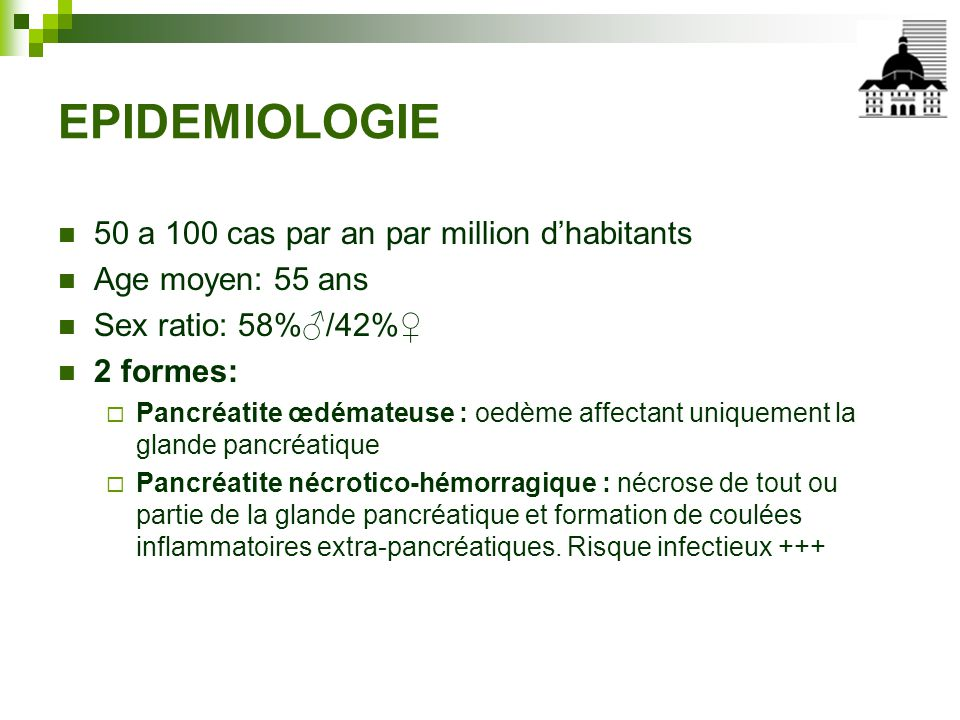 EPIDEMIOLOGIE 50 a 100 cas par an par million d'habitants