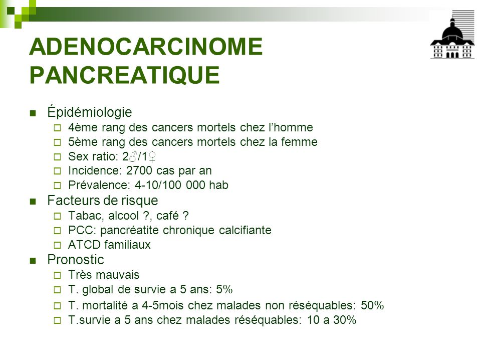 ADENOCARCINOME PANCREATIQUE