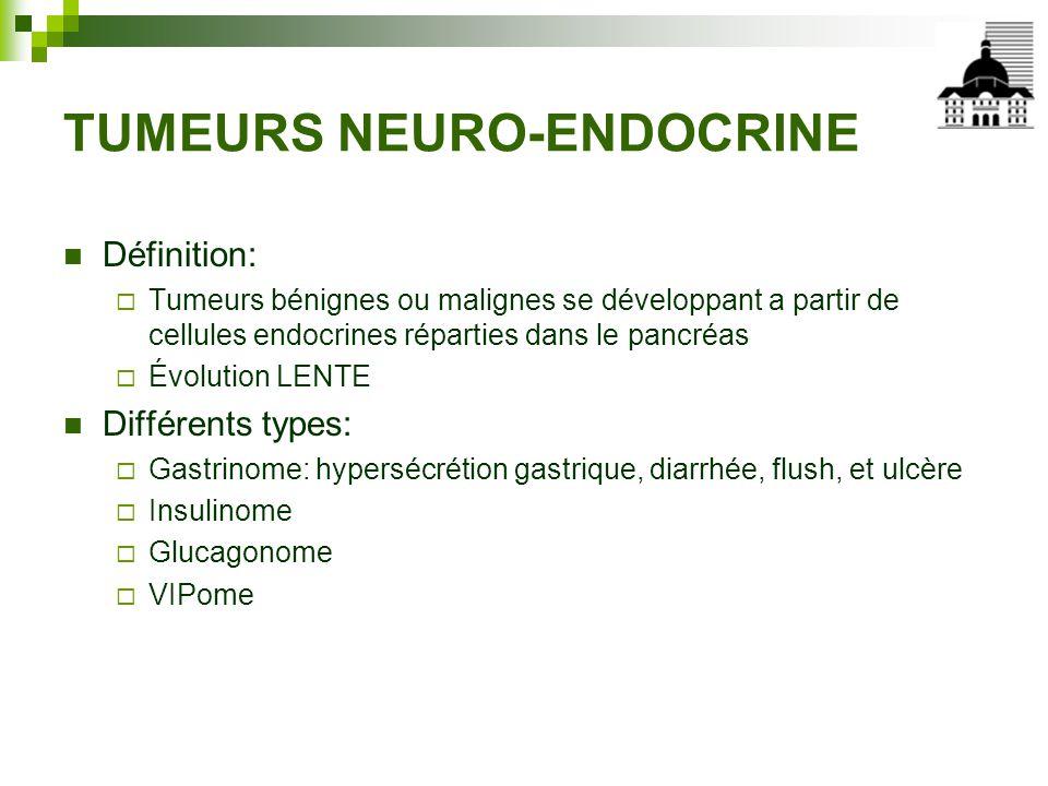 TUMEURS NEURO-ENDOCRINE