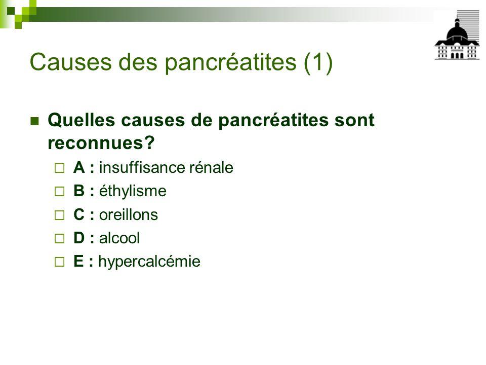 Causes des pancréatites (1)