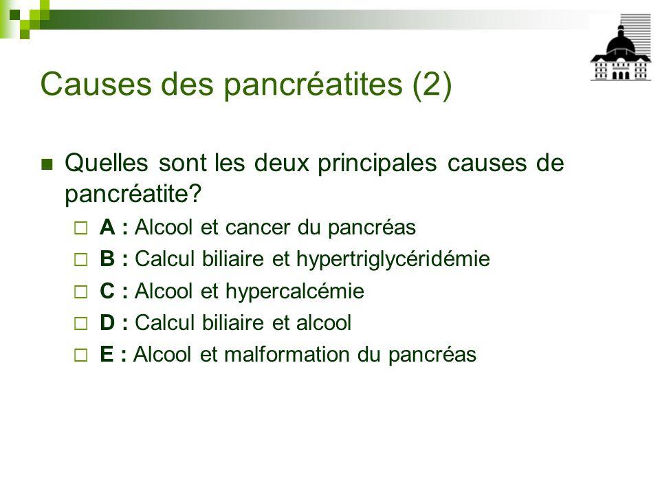 Causes des pancréatites (2)