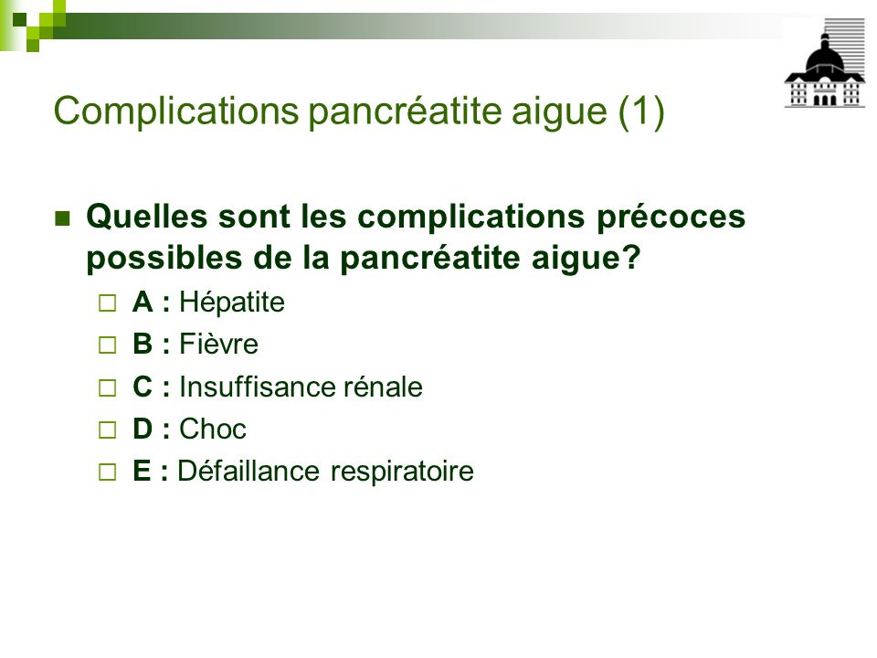 Complications pancréatite aigue (1)