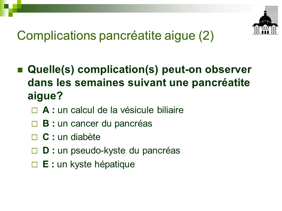 Complications pancréatite aigue (2)