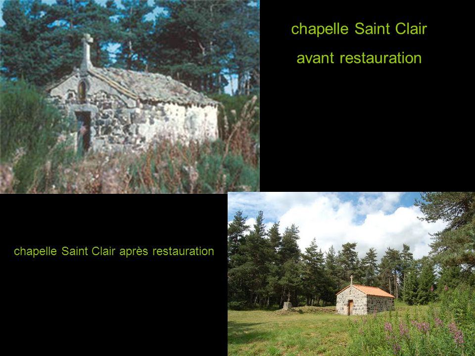 chapelle Saint Clair avant restauration