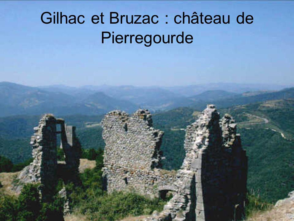 Gilhac et Bruzac : château de Pierregourde