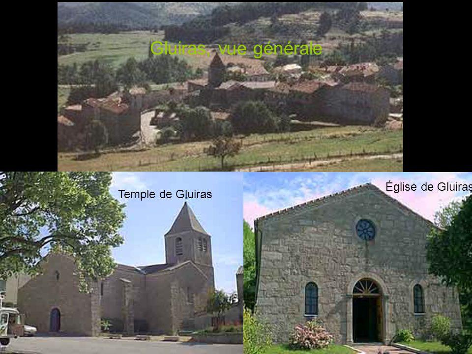 Gluiras, vue générale Église de Gluiras Temple de Gluiras