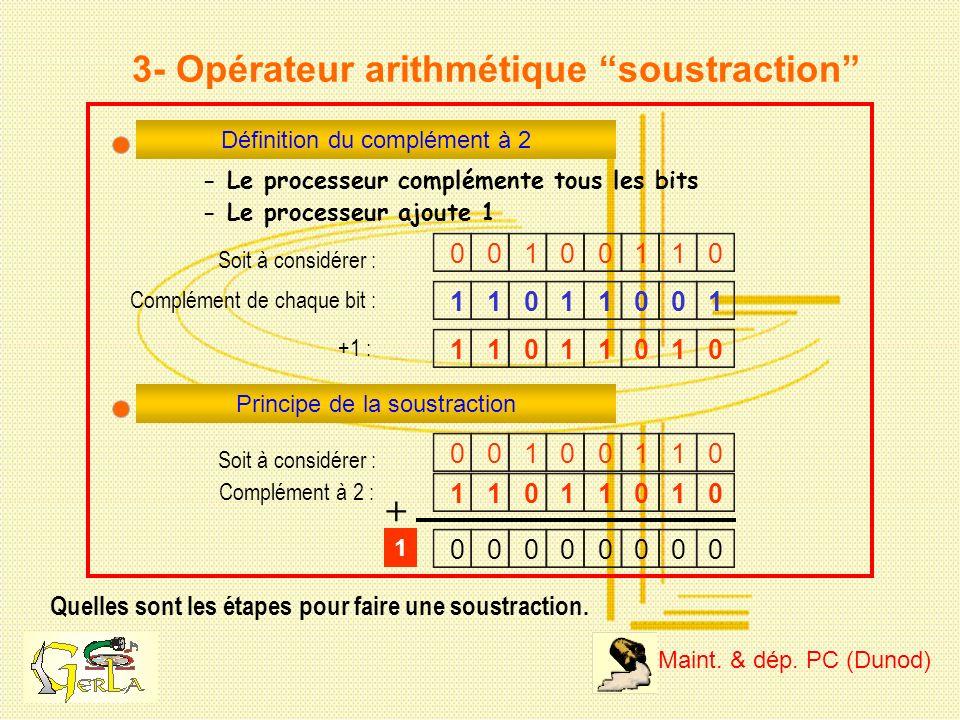 3- Opérateur arithmétique soustraction