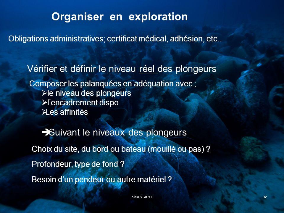 Organiser en exploration