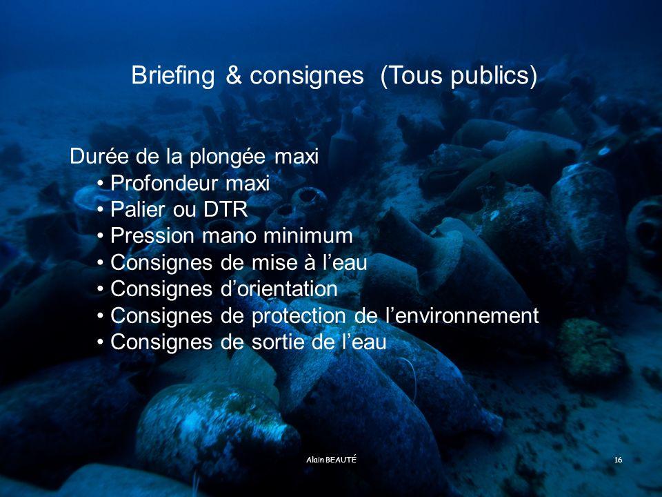 Briefing & consignes (Tous publics)