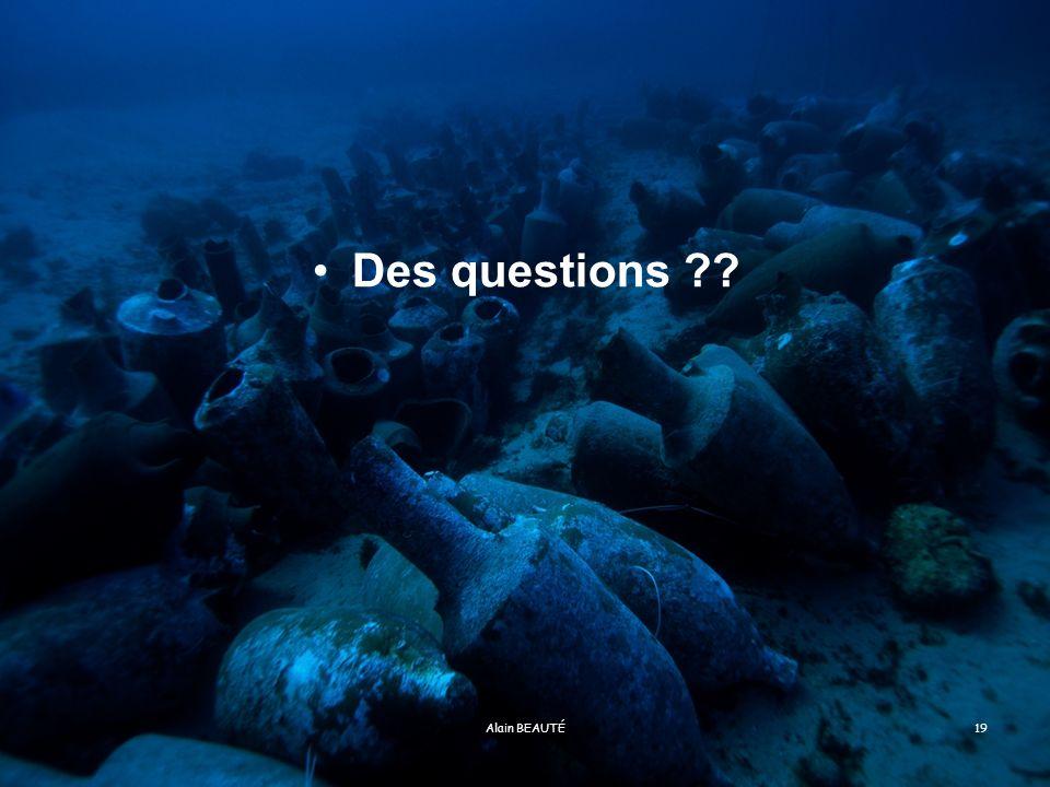 Des questions Alain BEAUTÉ