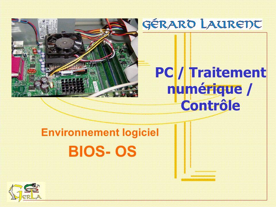 PC / Traitement numérique / Contrôle Environnement logiciel