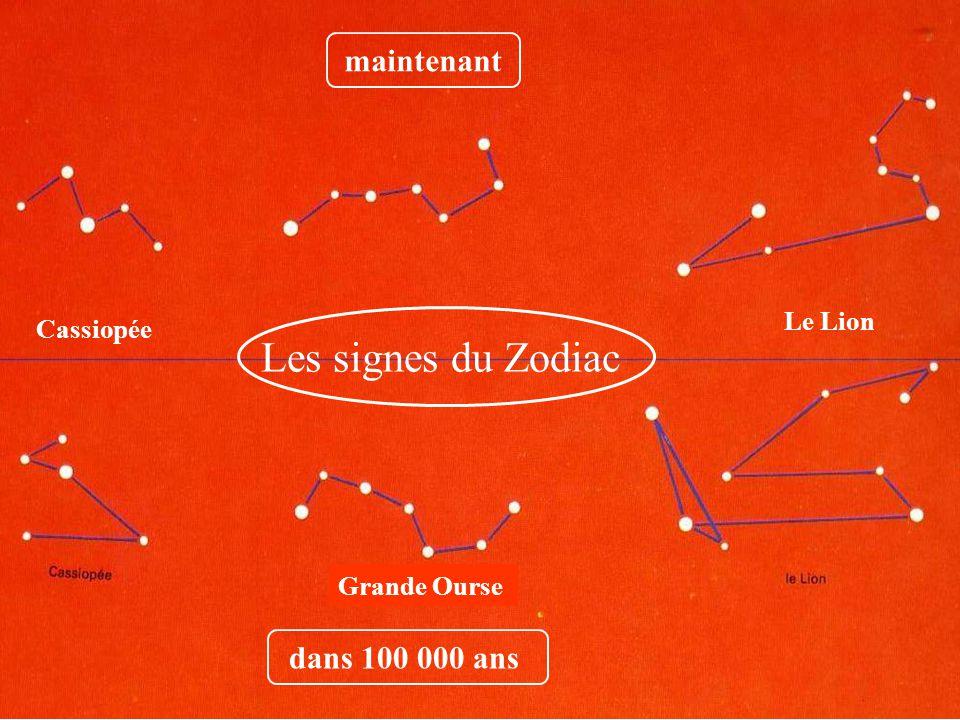 Les signes du Zodiac maintenant dans 100 000 ans Le Lion Cassiopée