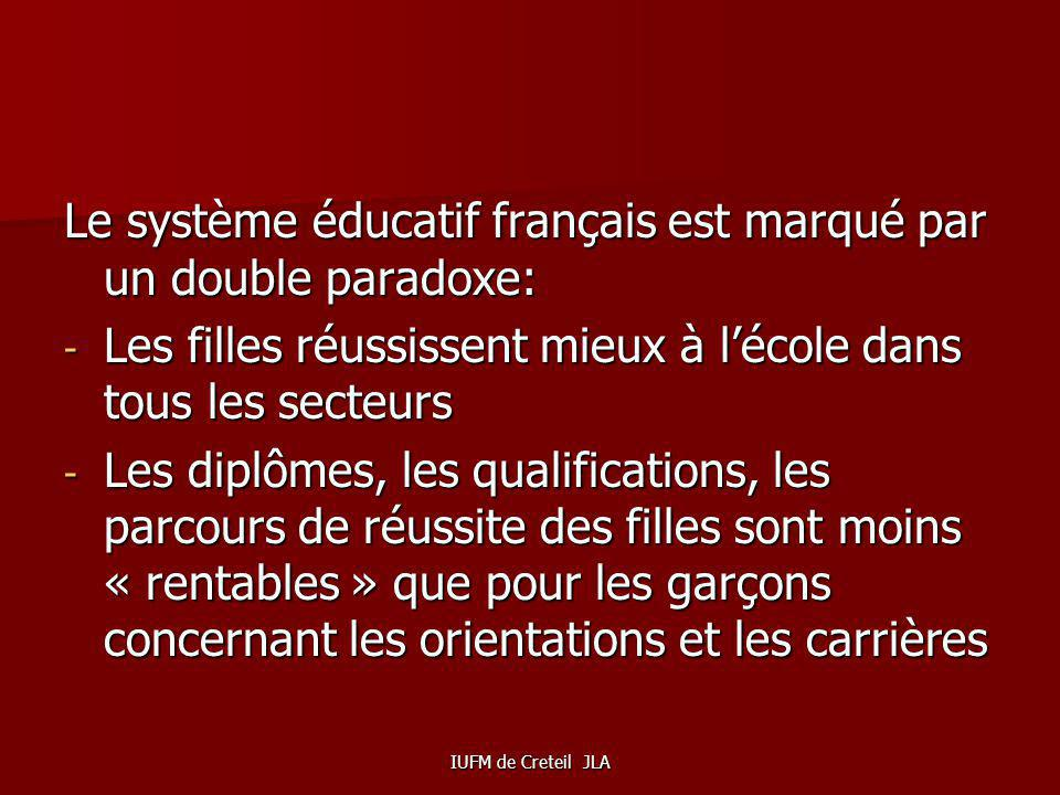 Le système éducatif français est marqué par un double paradoxe: